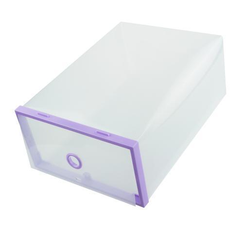 Пластиковый складной контейнер для обуви, фиолетовый