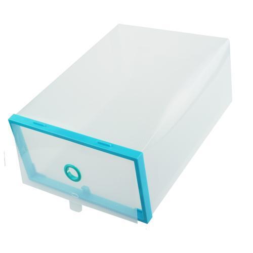 Пластиковый складной контейнер для обуви, голубой