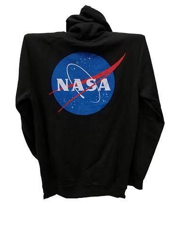 Мужская кофта на молнии Madmext теплая с капюшоном с эмблемой NASA, фото 2