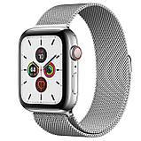Apple Watch Series 5 GPS 44mm Stainless Steel Case Milanese Loop Silver, фото 2