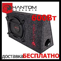 Автомобільний сабвуфер PHANTOM GB-300BPA(активний,600/300 Вт)