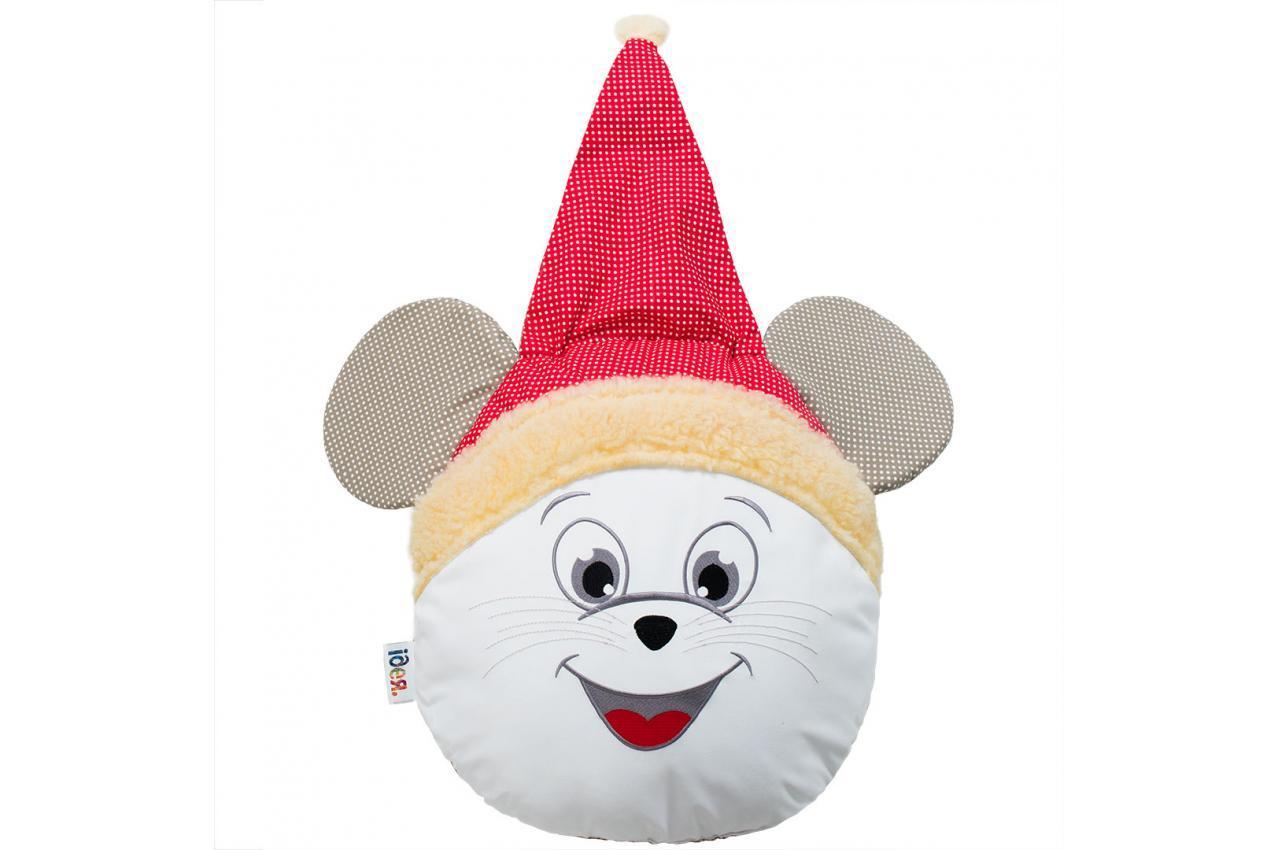 Декоративная подушка Мышка - санта