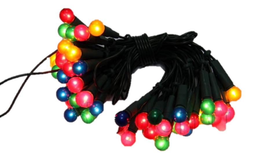 Светодиодная гирлянда жемчужные шарики 100Л разноцветная (050635)