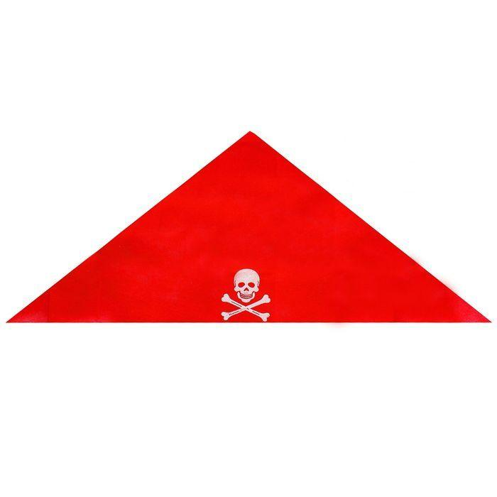 "Бандана-хустинка ""Пірата"", червона, Хелловін, Бандана-платок пирата"