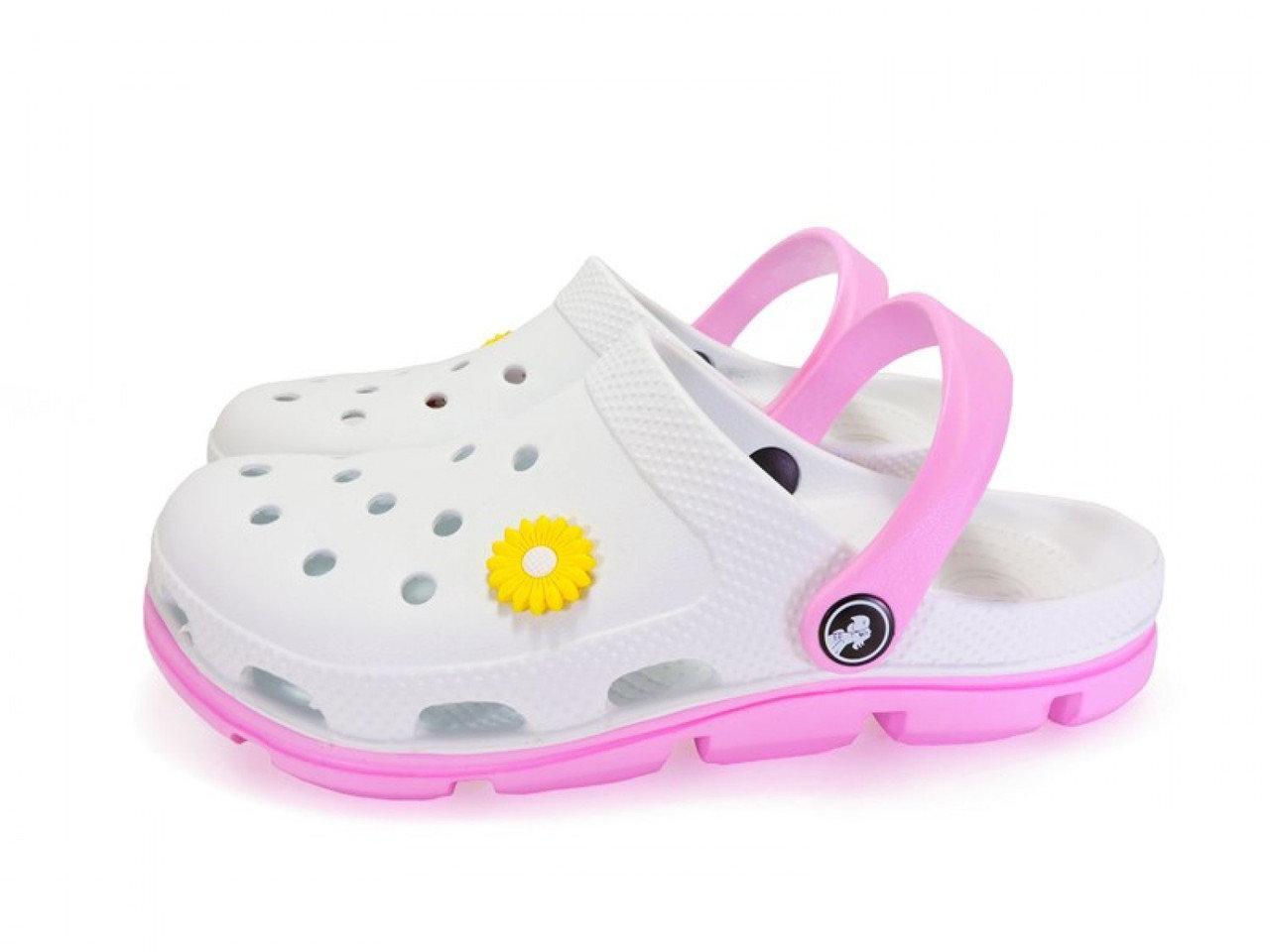 Кроксы из легкой пены ЭВА, р-ры 36, 37, 38, 39, 40, 41 Белые женские сабо Медицинская обувь.