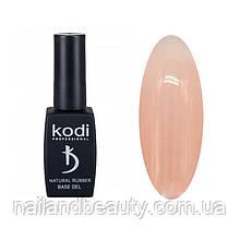Каучукова база Коді для гель лаку Kodi Natural Rubber Base (DARK BEIGE), 12 ml