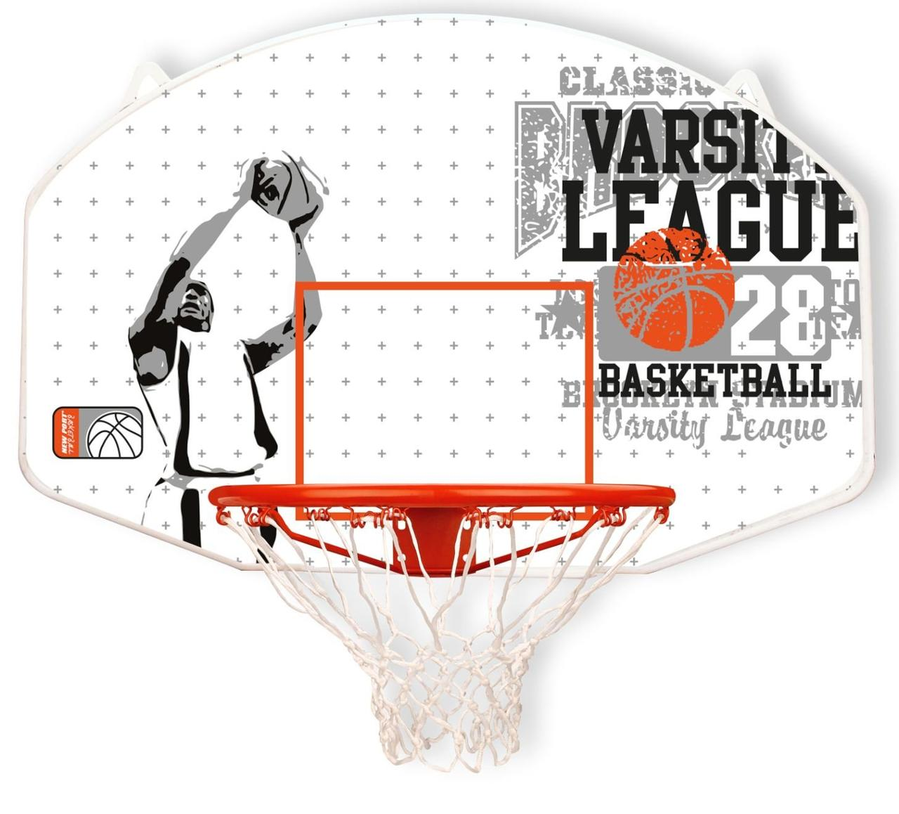 Баскетбольная доска с кольцом и сеткой - New Port Unisex's 16NY
