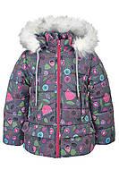 Зимняя куртка ANSK Цветы 104 серая 4510000Z, фото 1