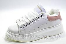 Зимние кроссовки в стиле Alexander McQueen, White\Белые на меху, фото 2