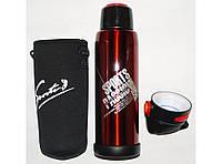 Термос высокого качества 770 мл (2 крышки) T30 красный, спортивный термос для напитков, термос с чехлом