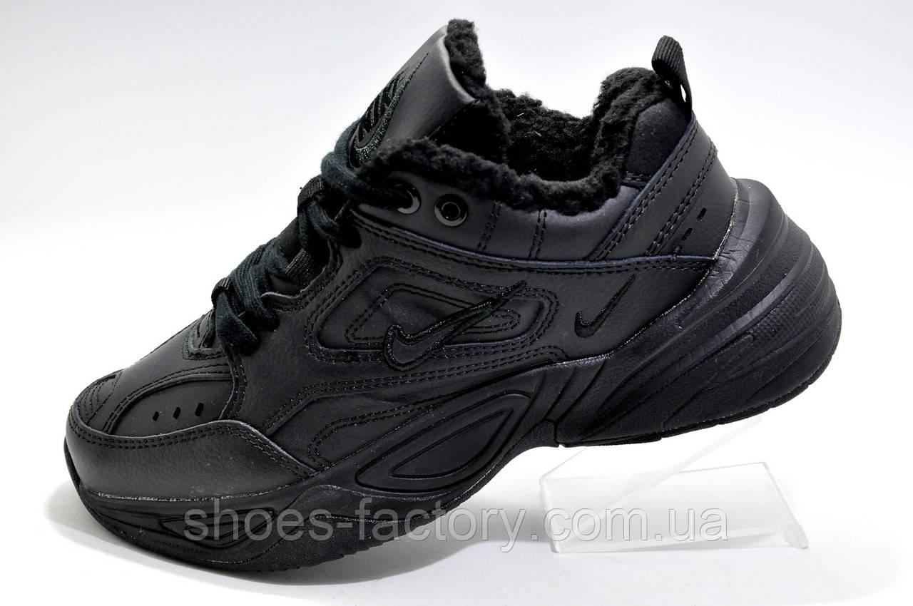 Зимние кроссовки в стиле Nike M2K Tekno, Black (Air Monarch) на меху