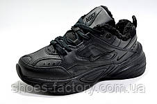 Зимние кроссовки в стиле Nike M2K Tekno, Black (Air Monarch) на меху, фото 2