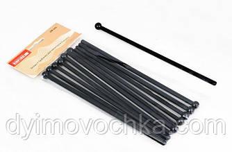 Набор палочекпластиковыхдля смешивания с шариком EM0274 Empire, L 195 мм (12 штук), цвет черный