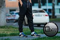"""Чёрные мужские штаны карго """"Ястребь"""" есть опт, фото 1"""