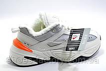 Зимние женские кроссовки в стиле Nike M2K Tekno, Beige color (Air Monarch) с мехом, фото 2
