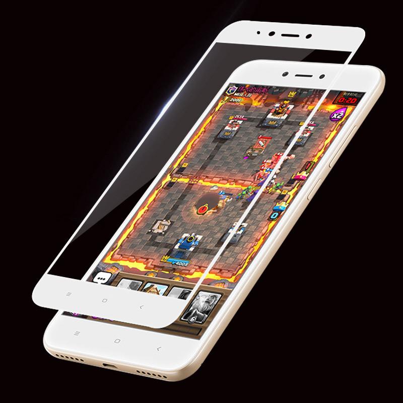 Защитное закаленное стекло GLASS для смартфона Xiaomi Redmi Note 5A с рамкой. Белое