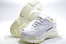 Зимние кроссовки в стиле Balenciaga triple s, White\Белые на меху, фото 3