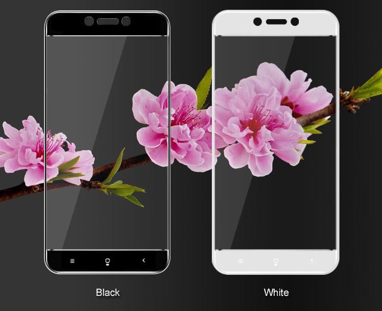 Захисне і загартоване скло для смартфона Xiaomi Redmi 5A з рамкою Glass. Біле