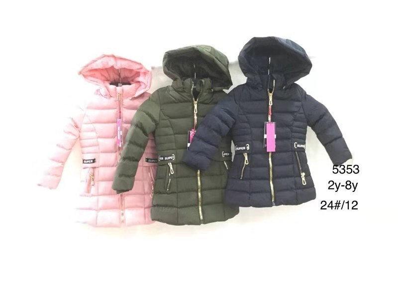 Куртки для девочек на меху оптом Nature, размеры 2-8 лет. арт. RYG-5353