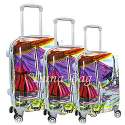 Набор из трех чемоданов Размеры (20,24,28)