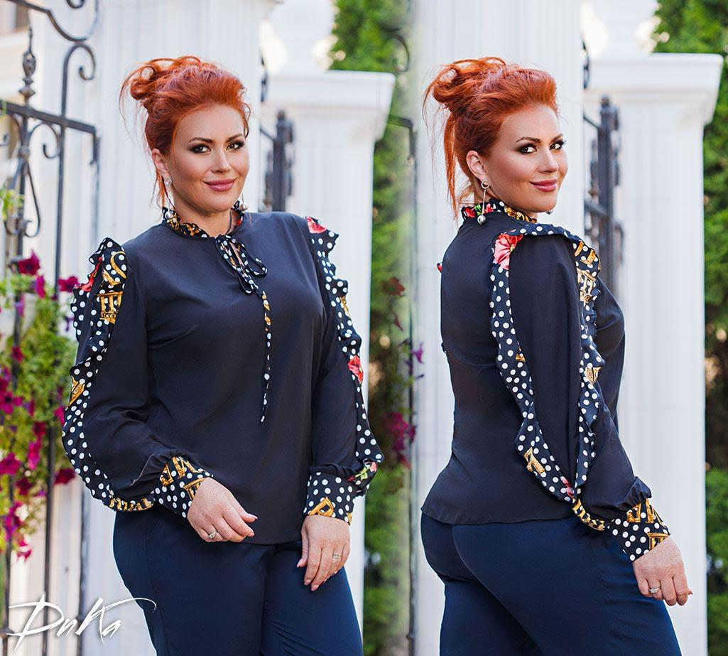 Веселенькая блуза с рюшами