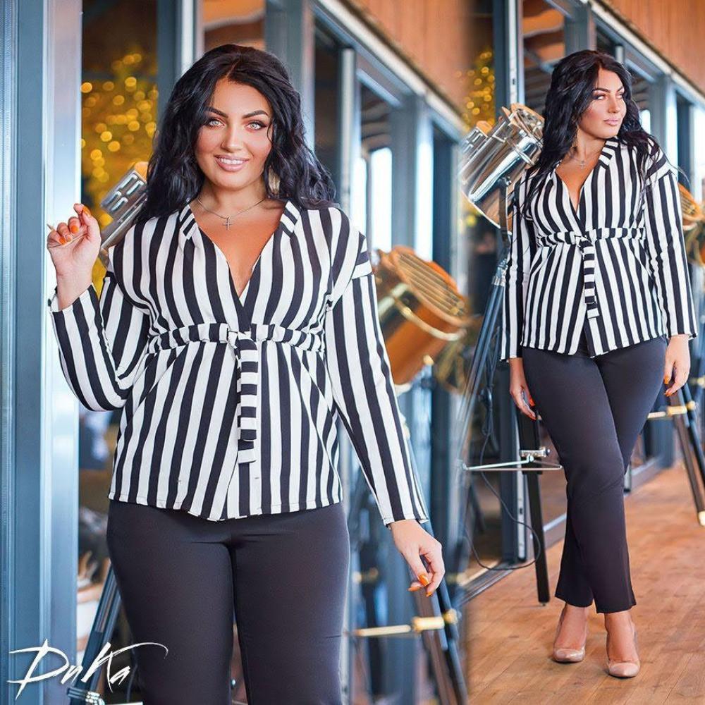 Костюм брючный женский, офисный, стильный, большого размера, модный, повседневный, нарядный до 56-го, фото 1