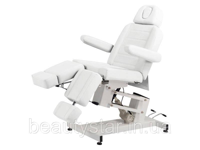 Крісло кушетка для педикюру електричне дві роздільні підніжки B. S. Ukarine 3706