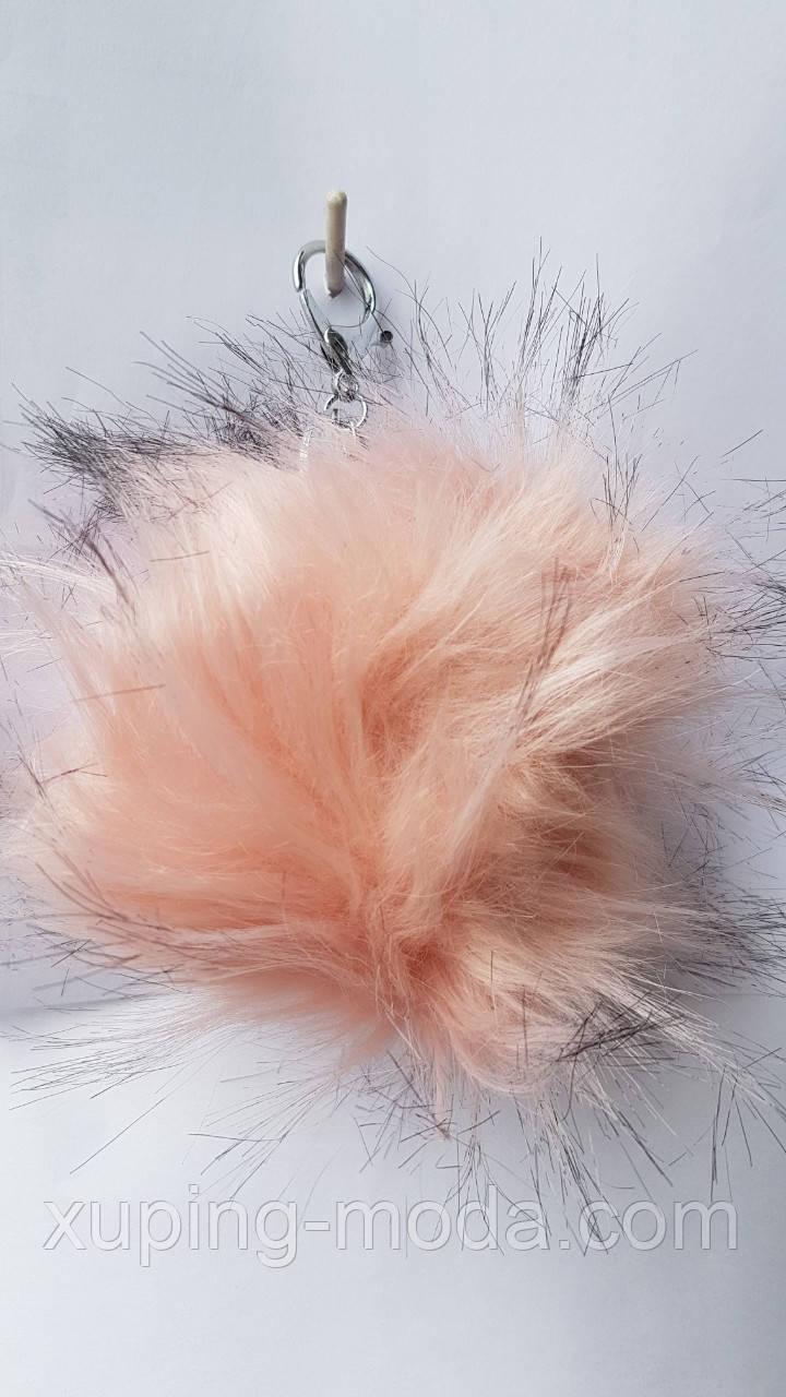 Красивый брелок. Шарик персикового цвета