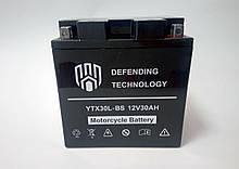 Акумулятор мото 12В 30аг Defending Technology YTX30L-BS