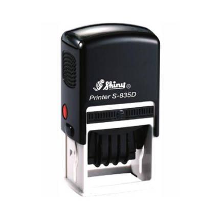 Датер пластмасовий 4мм з вільним полем 20x30 мм, Shiny S-835D, фото 2
