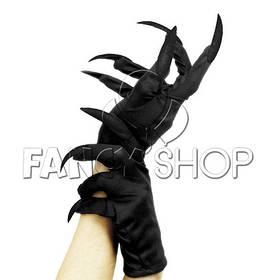 Рукавички з кігтями, чорні, Хелловін, Перчатки з когтями