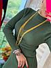 Модное платье, воротник-стойка спереди молния, трикотаж мелкая машинная вязка. Размер:С,М. Разные цвета.(0806), фото 5