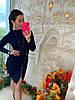 Модное платье, воротник-стойка спереди молния, трикотаж мелкая машинная вязка. Размер:С,М. Разные цвета.(0806), фото 7