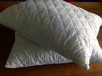 Подушка стеганная 50х70 см холлофайбер белая