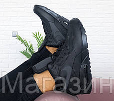Мужские кроссовки Nike Air Max 90 Sneakerboot Black Найк Аир Макс 90 Сникербут черные, фото 3
