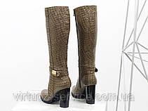 Сапоги женские Gino Figini М-422-07 из натуральной лаковой кожи 38 Карамельный, фото 2