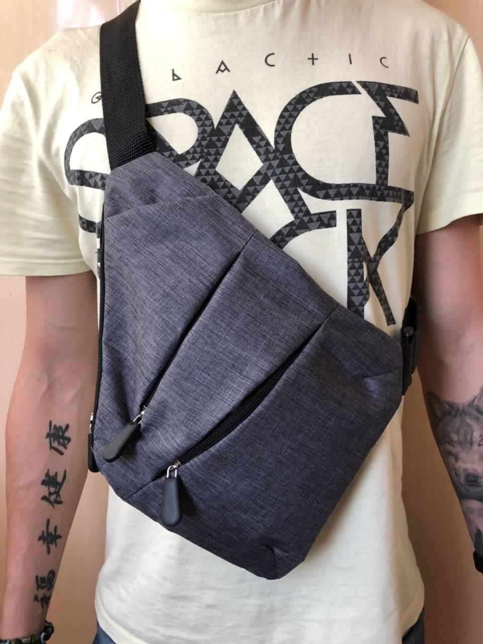 Мужская сумка мессенджер Cross Body, сумка через плече, рюкзак, слинг, сумка кобура, сумка крос боди