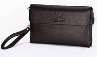 Клатч кошелек мужской кожаный модный качественный подарочный Armani, фото 1