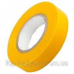 Изолента 0,18х19мм, желтая 20м, ІЕК