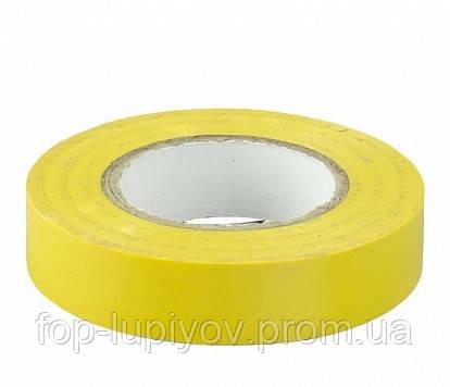 Изолента 0,13х15мм, желтая 20м, ІЕК