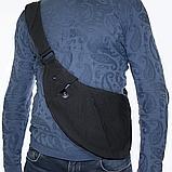 Сумка-мессенджер через плечо 2Life Crossbody 3 Темно-серый (n-411), фото 4