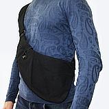 Сумка-мессенджер через плечо 2Life Crossbody 3 Темно-серый (n-411), фото 5