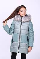Зимняя куртка для девочки «Мишель», полынь