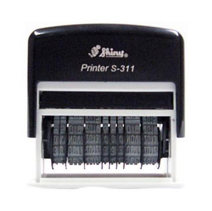 Датер пластмассовый 3мм с двойной датой, Shiny S-311, фото 2