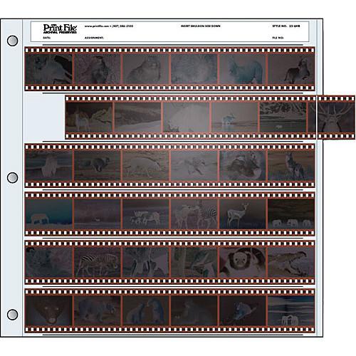 Файл-сливер для хранения фотопленок Print File 35-6HB