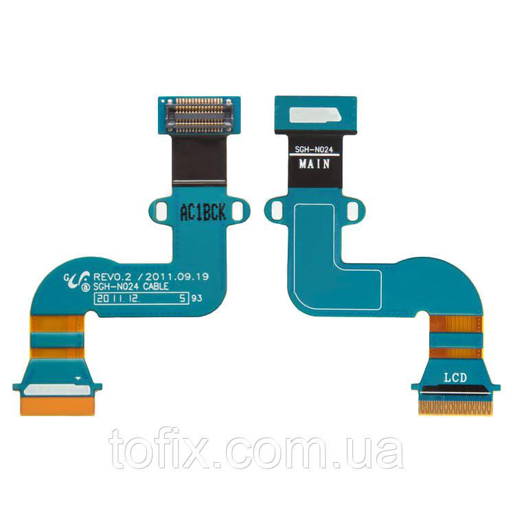 Шлейф для Samsung Galaxy Tab 2 P3100, P3110, дисплея, с компонентами, оригинал