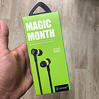 Наушники Celebrat Magic Month D2 спортивные вакуумные проводные c микрофоном гарнитура, фото 1