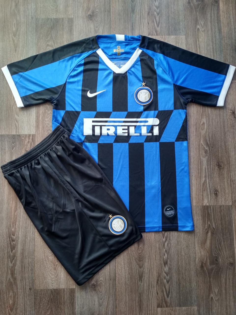 Футбольная форма Интер сезон 2019-2020 основная черно-синяя