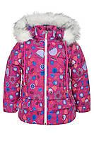 Зимняя куртка ANSK Цветы 104 розовая 4520000Z, фото 1