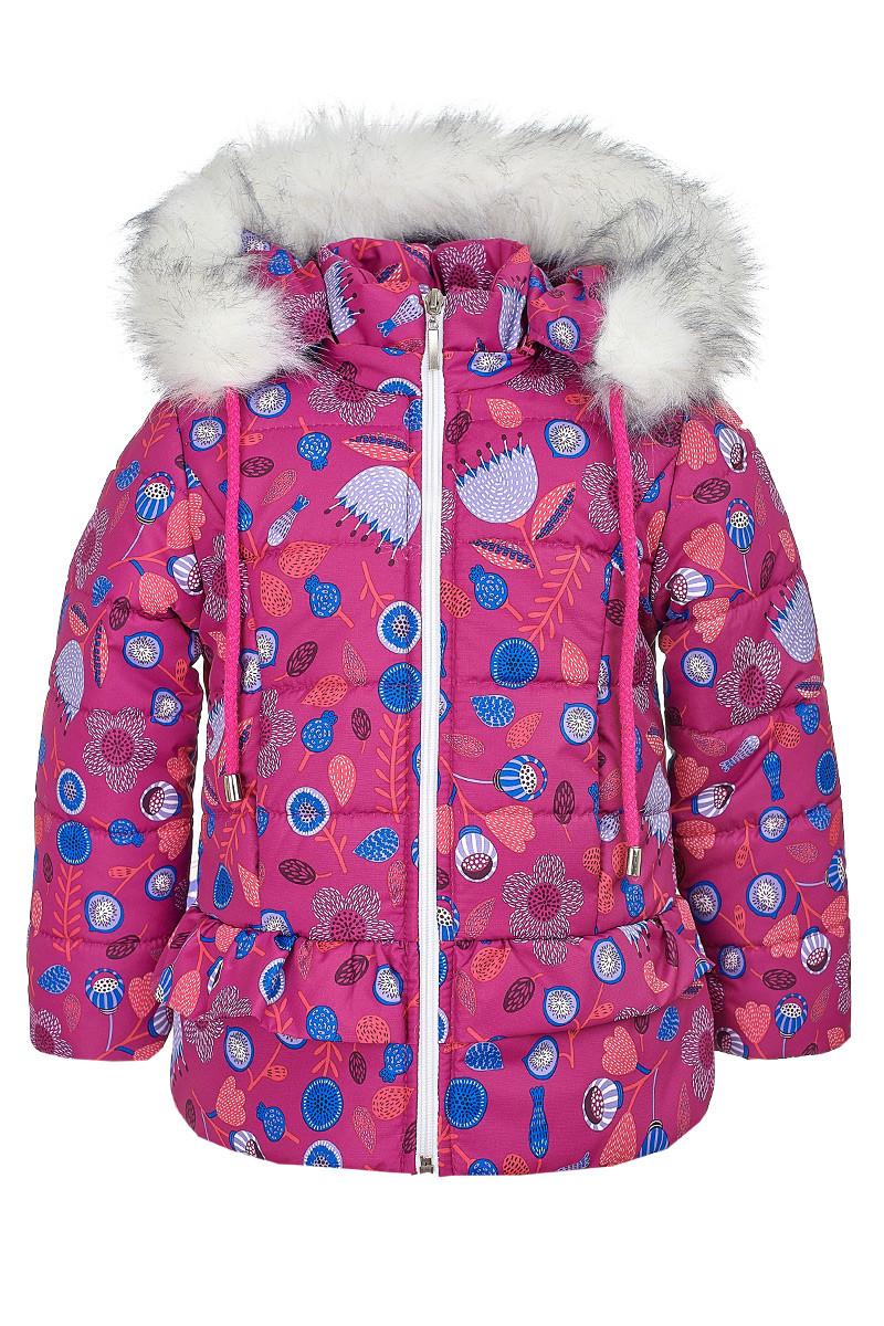 Зимняя куртка ANSK Цветы 104 розовая 4520000Z